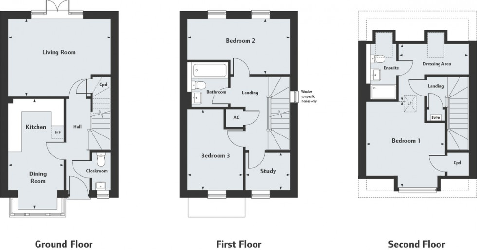 Floorplan for Millpond Lane, Faygate, Horsham